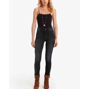 Mother High Waisted Looker Coffee Tea Or Me Jeans
